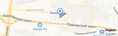 Банкомат Банк Возрождение на карте Барнаула