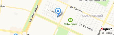 Опора на карте Барнаула