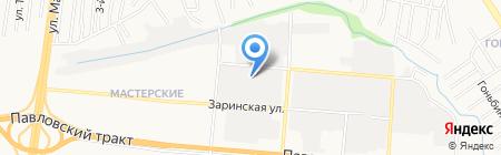 Магазин автозапчастей для ПАЗ на карте Барнаула