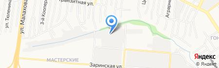 Портал на карте Барнаула