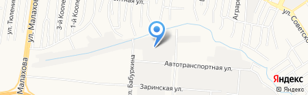 STO-carat на карте Барнаула