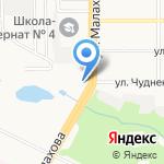 Ода на карте Барнаула