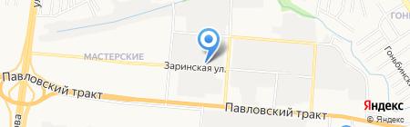 Автокомпас на карте Барнаула