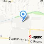 Альберо на карте Барнаула