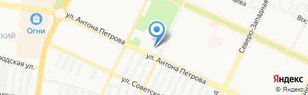 Заря Алтая на карте Барнаула