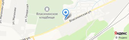 Цех памятников на карте Барнаула