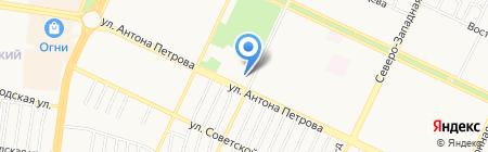 Росс спортивный клуб по самбо на карте Барнаула
