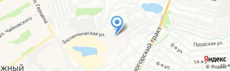 Лесоперерабатывающее предприятие на карте Барнаула