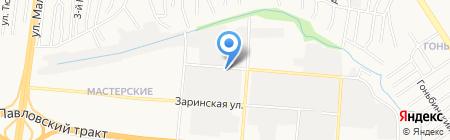 Банк Возрождение на карте Барнаула
