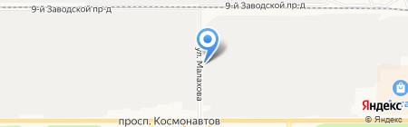 Титан на карте Барнаула