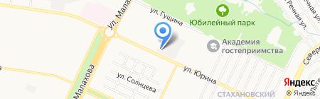 Восток Сибири на карте Барнаула