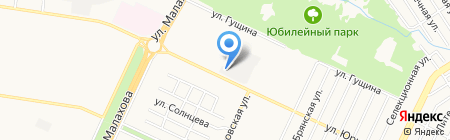 Браст на карте Барнаула