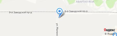 Максбор на карте Барнаула