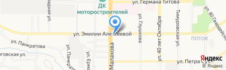 Наши продукты на карте Барнаула
