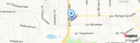 Электрошок на карте Барнаула