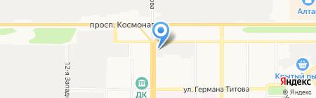 Аква Хаус на карте Барнаула