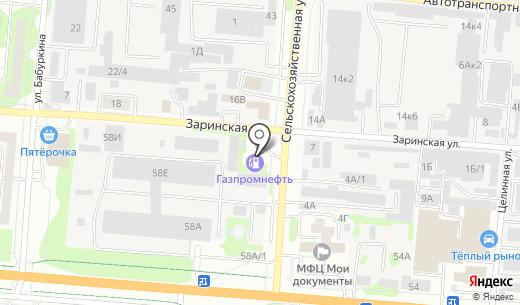 АЗС Газпромнефть-Новосибирск. Схема проезда в Барнауле
