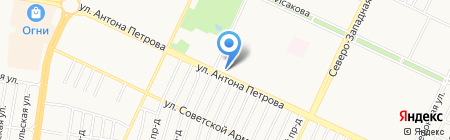 Виртуаль на карте Барнаула