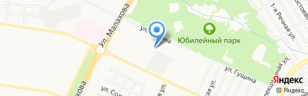 Изумрудное на карте Барнаула
