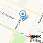 Автоклаксон на карте Барнаула