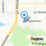 Арбат на карте Барнаула