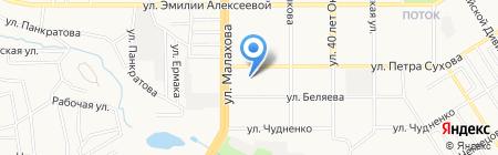 Детский сад №227 на карте Барнаула