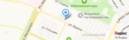 Диотекс на карте Барнаула