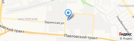 Космос на карте Барнаула