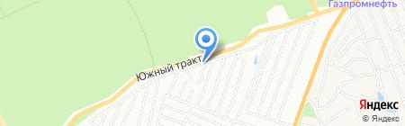 Сибирский садовод на карте Барнаула