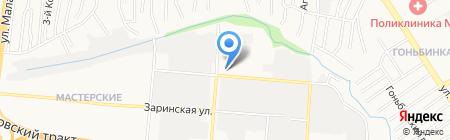 Звенящие клинки на карте Барнаула