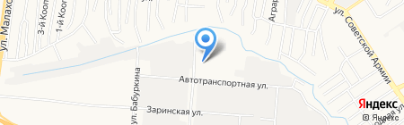 Автостекло на карте Барнаула