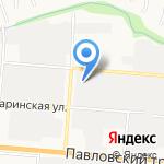 Каретный двор на карте Барнаула