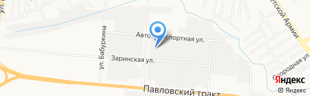 САЭМ на карте Барнаула
