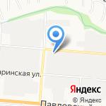 Форт и С на карте Барнаула