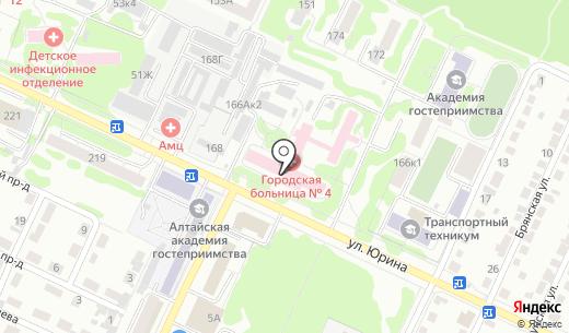 Центр здоровья. Схема проезда в Барнауле