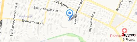 Пчела и человек на карте Барнаула
