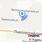 Авто 03 на карте Барнаула