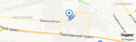 Росско на карте Барнаула