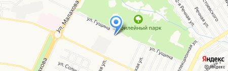 Рябинушка на карте Барнаула