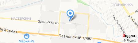 Авуар-тур на карте Барнаула