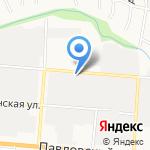 Колесница на карте Барнаула