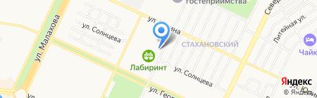 Лабиринт на карте Барнаула