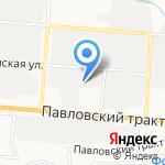 Гарант на карте Барнаула