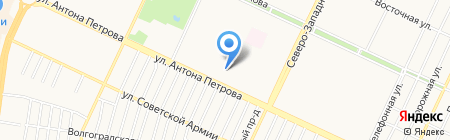 Средняя общеобразовательная школа №68 на карте Барнаула