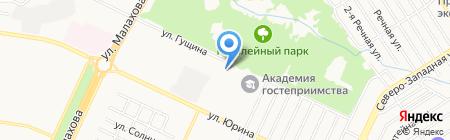 Дом аспиранта и студента на карте Барнаула