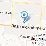 Пегас на карте Барнаула