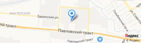 Империя Звука на карте Барнаула