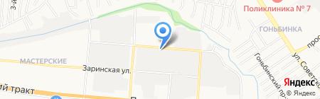 Иномарка на карте Барнаула