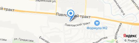 Русшина на карте Барнаула
