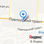 ДизельСиб на карте Барнаула